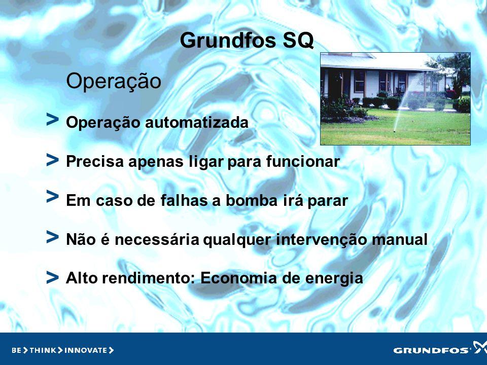 > > > > > Grundfos SQ Operação Operação automatizada