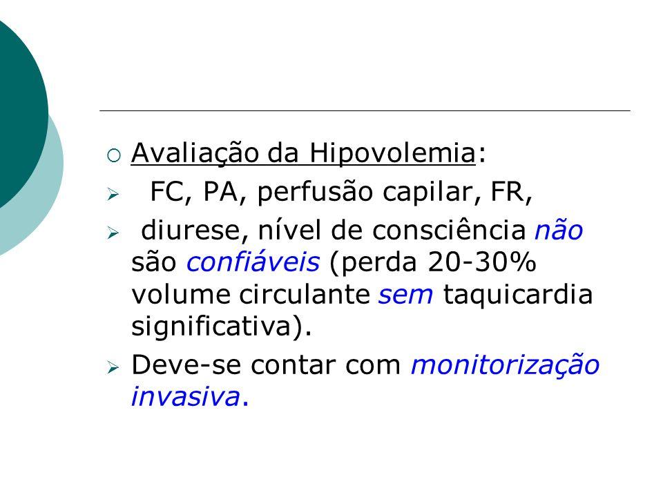 Avaliação da Hipovolemia: