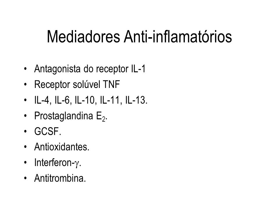 Mediadores Anti-inflamatórios