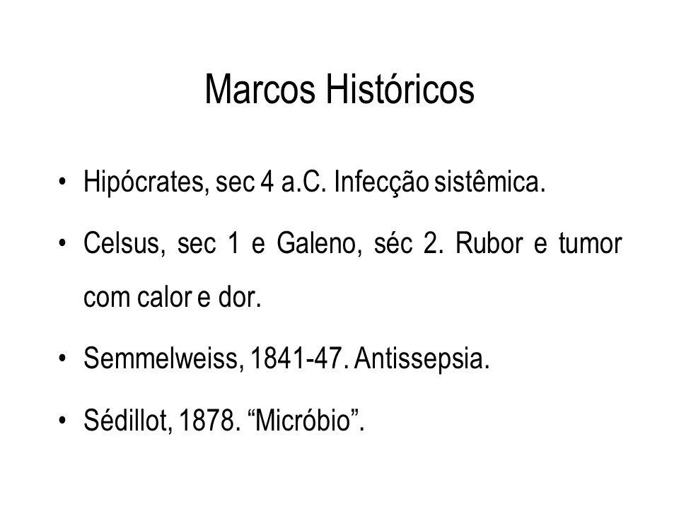 Marcos Históricos Hipócrates, sec 4 a.C. Infecção sistêmica.