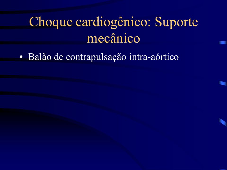 Choque cardiogênico: Suporte mecânico