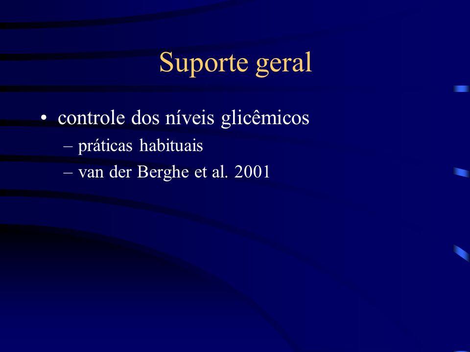 Suporte geral controle dos níveis glicêmicos práticas habituais