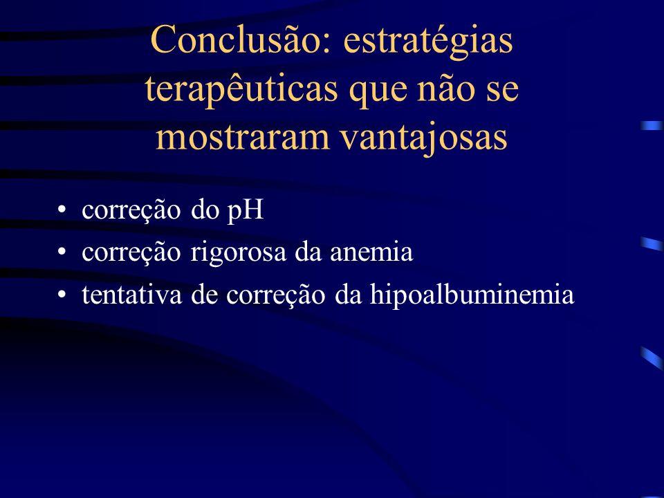 Conclusão: estratégias terapêuticas que não se mostraram vantajosas