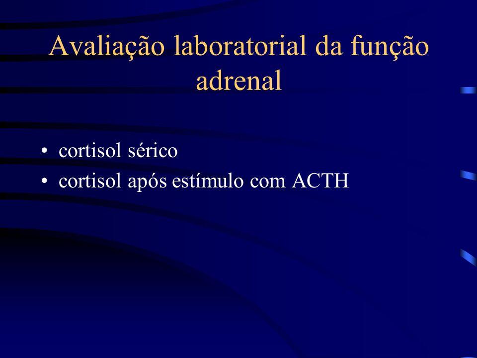Avaliação laboratorial da função adrenal