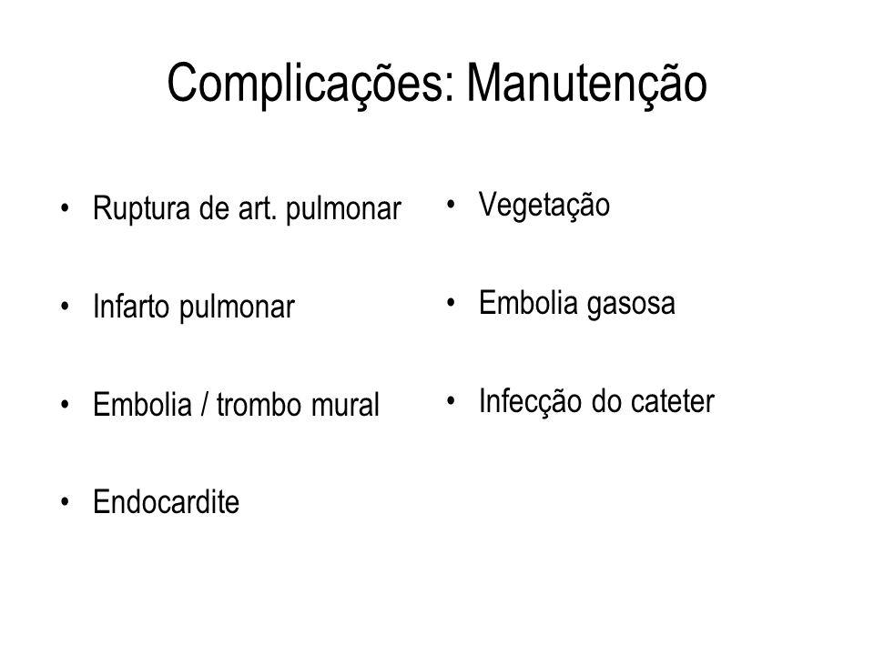 Complicações: Manutenção