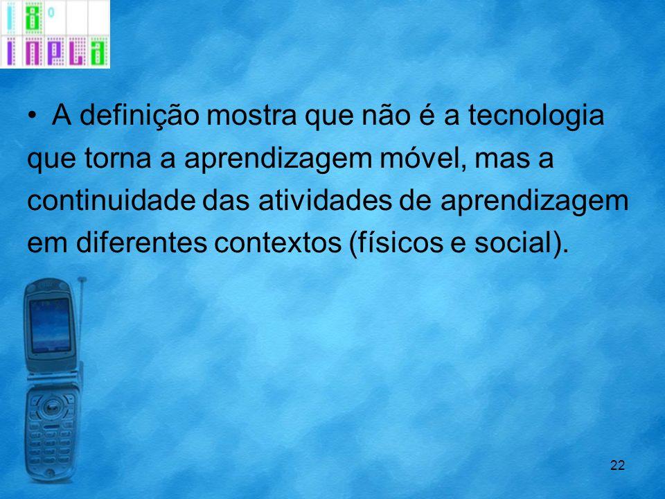 A definição mostra que não é a tecnologia
