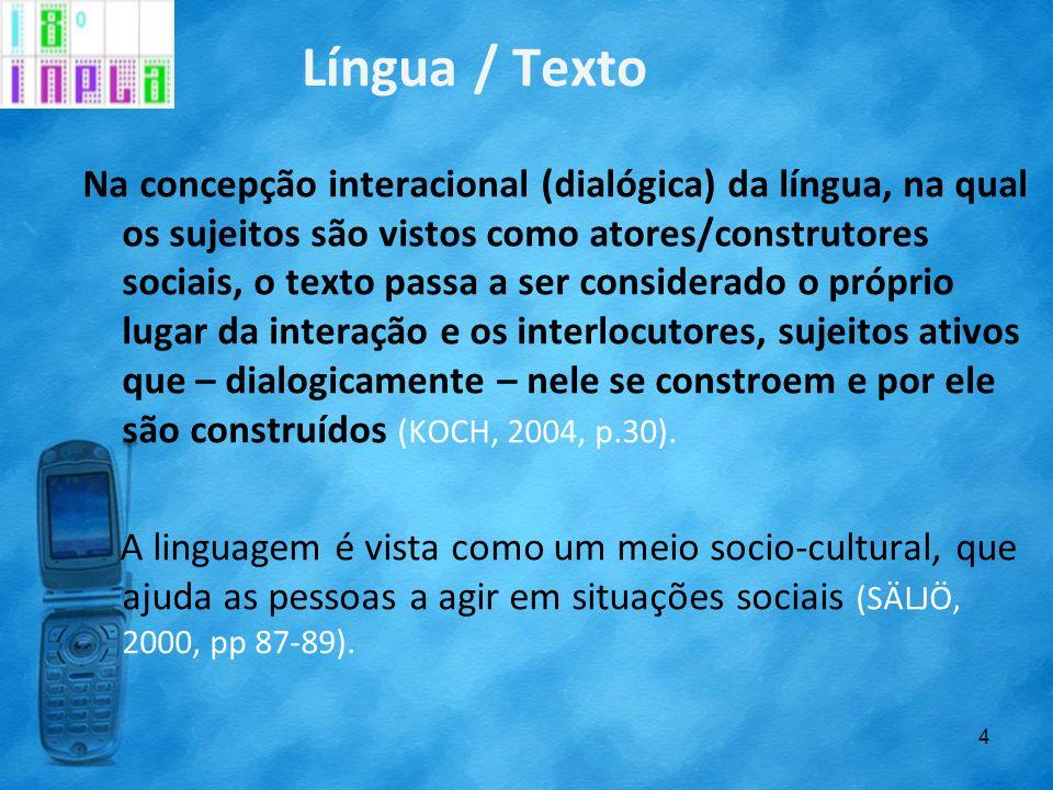 Língua / Texto