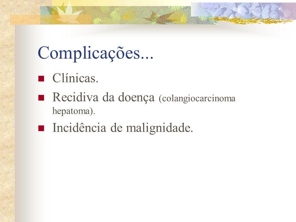 Complicações... Clínicas.