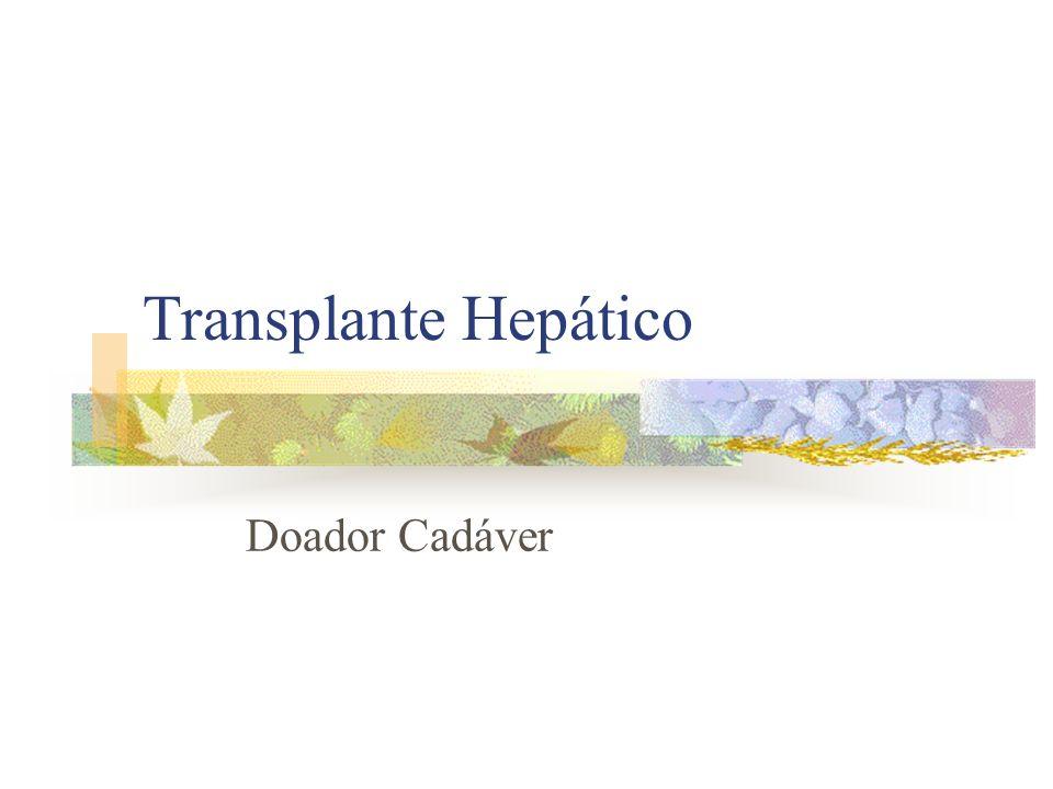 Transplante Hepático Doador Cadáver