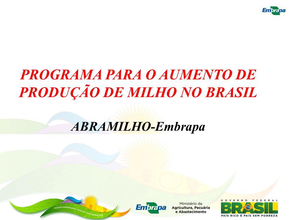 PROGRAMA PARA O AUMENTO DE PRODUÇÃO DE MILHO NO BRASIL