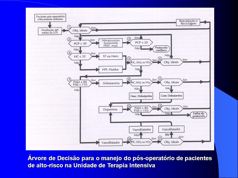 Árvore de Decisão para o manejo do pós-operatório de pacientes de alto-risco na Unidade de Terapia Intensiva