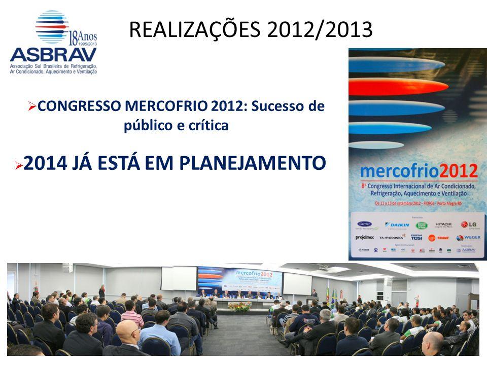 CONGRESSO MERCOFRIO 2012: Sucesso de público e crítica