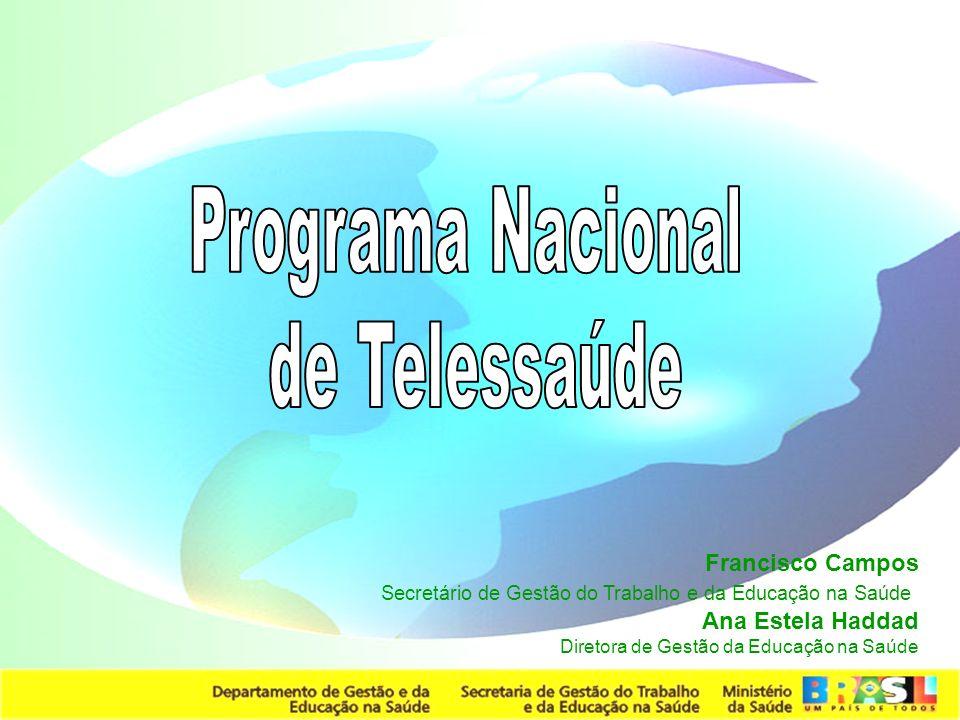 Programa Nacional de Telessaúde Francisco Campos Ana Estela Haddad