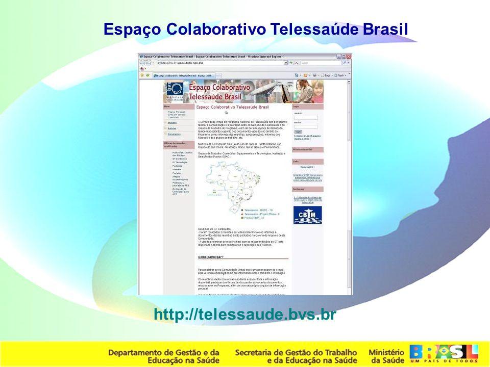 Espaço Colaborativo Telessaúde Brasil