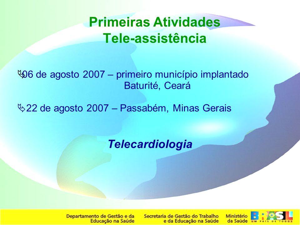 Primeiras Atividades Tele-assistência