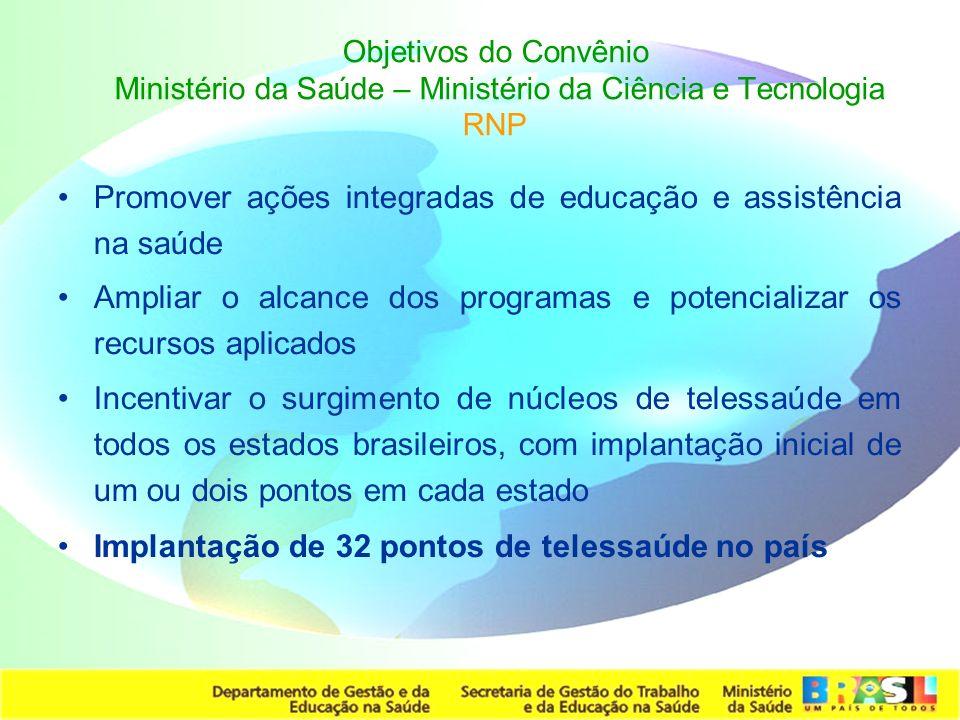 Promover ações integradas de educação e assistência na saúde