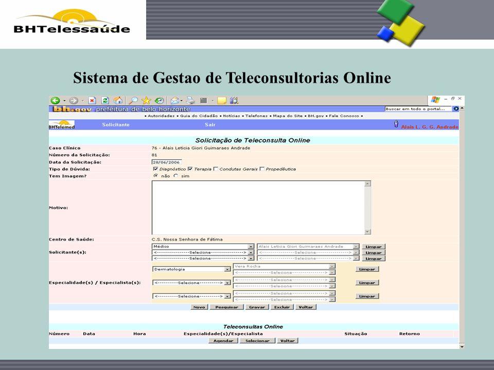 Sistema de Gestao de Teleconsultorias Online