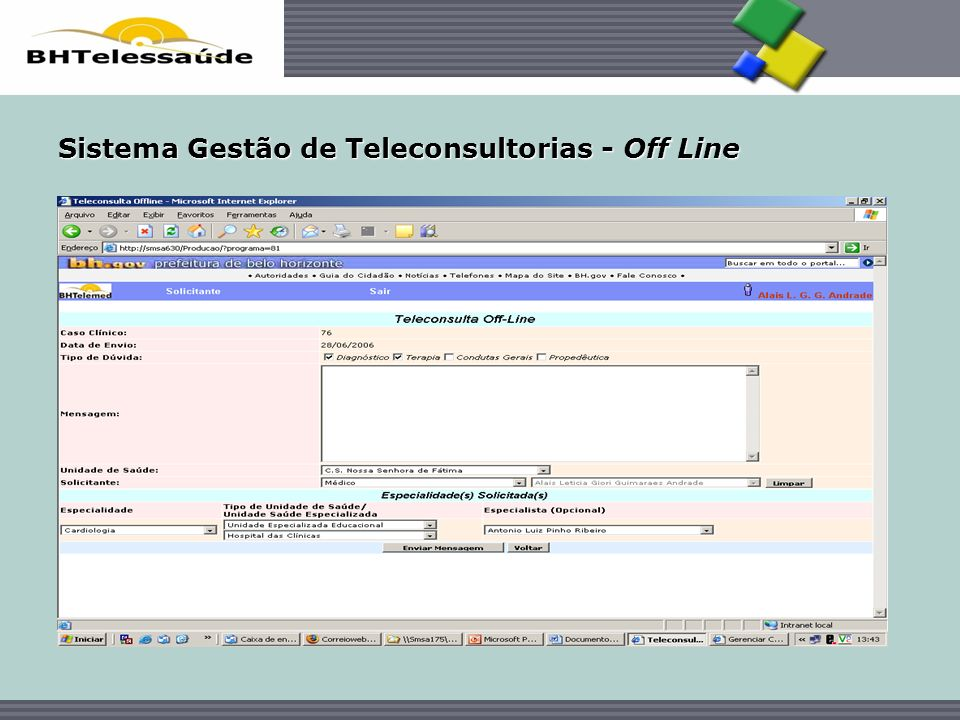 Sistema Gestão de Teleconsultorias - Off Line