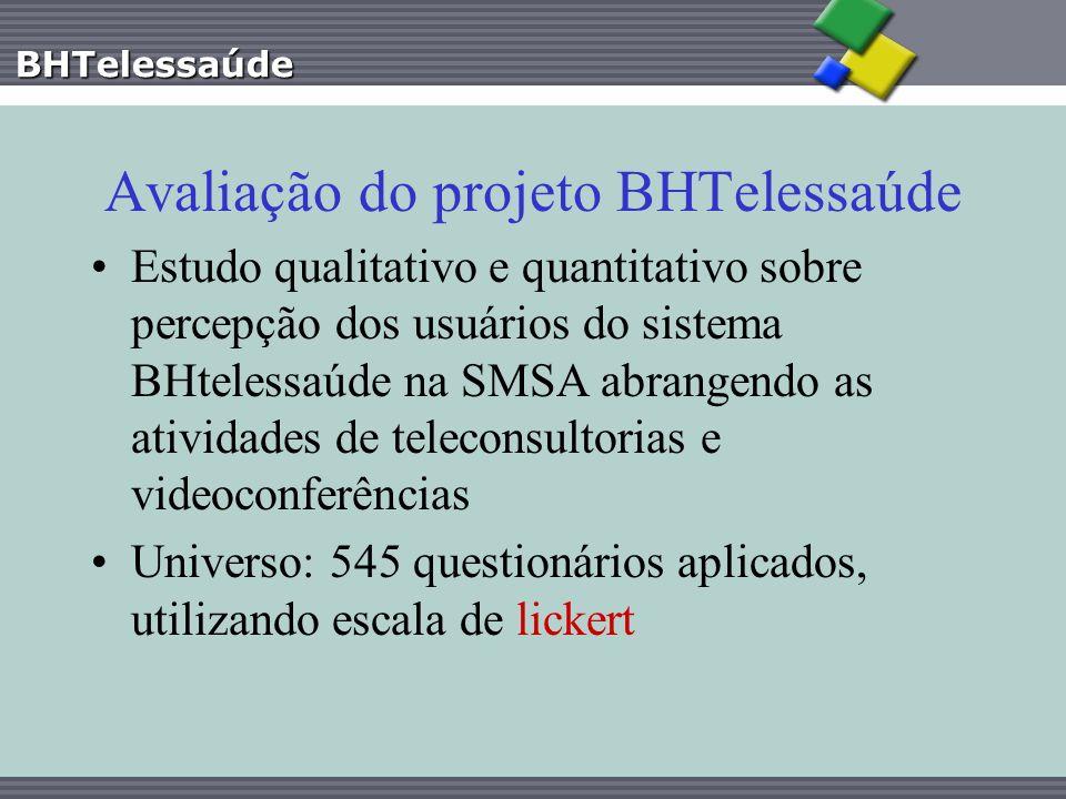 Avaliação do projeto BHTelessaúde