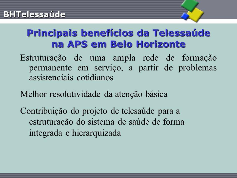 Principais benefícios da Telessaúde na APS em Belo Horizonte
