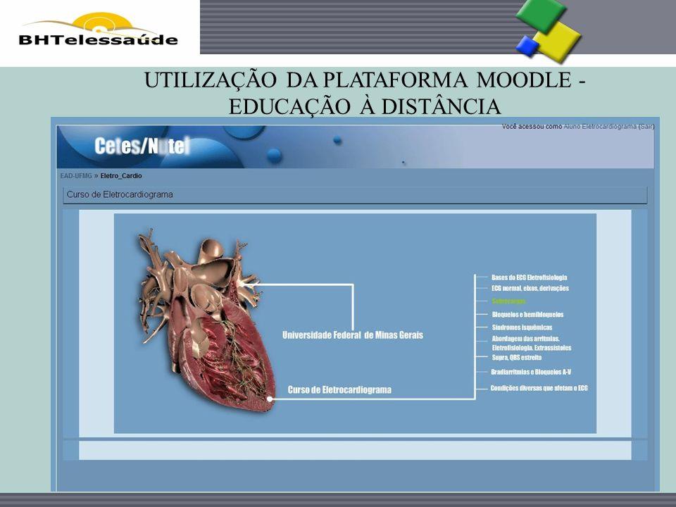 UTILIZAÇÃO DA PLATAFORMA MOODLE - EDUCAÇÃO À DISTÂNCIA