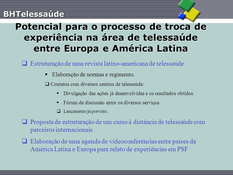 Potencial para o processo de troca de experiência na área de telessaúde entre Europa e América Latina