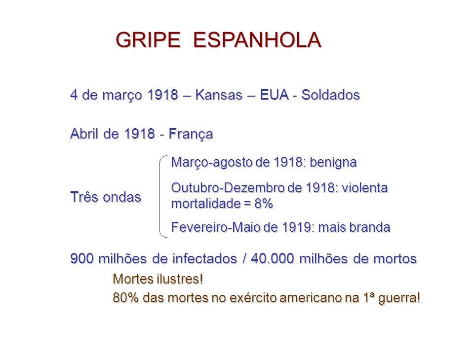 GRIPE ESPANHOLA 4 de março 1918 – Kansas – EUA - Soldados