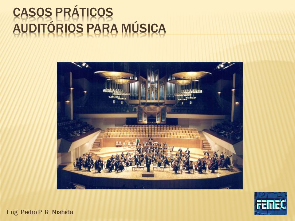 Casos práticos auditórios para música
