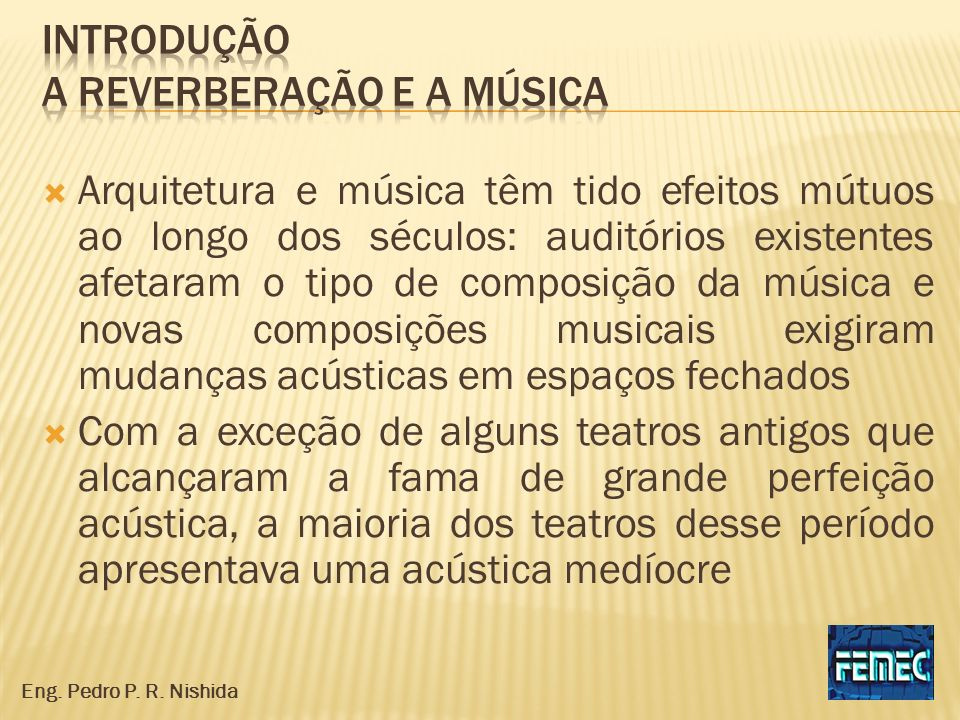 Introdução a reverberação e a música