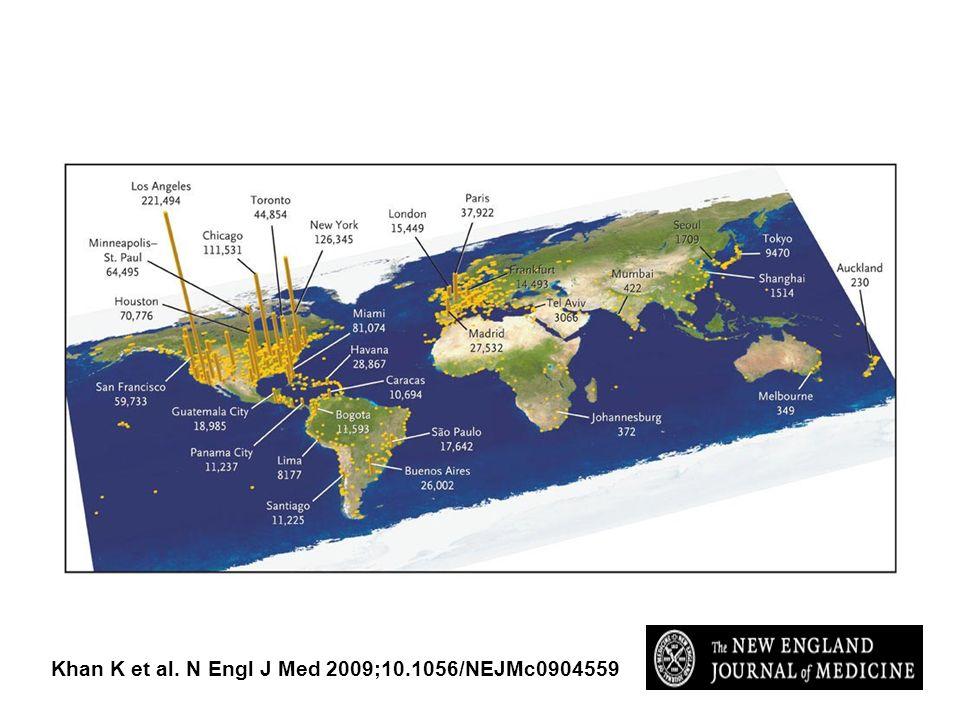 Khan K et al. N Engl J Med 2009;10.1056/NEJMc0904559
