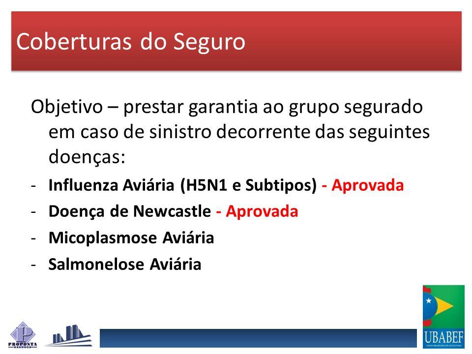 Coberturas do Seguro Objetivo – prestar garantia ao grupo segurado em caso de sinistro decorrente das seguintes doenças: