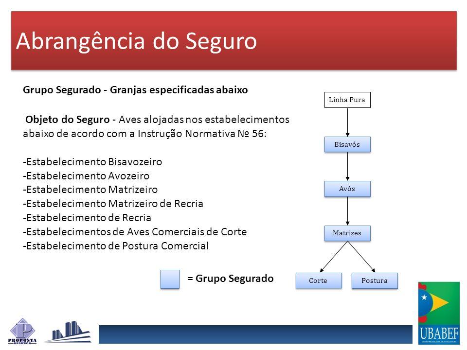 Abrangência do Seguro Grupo Segurado - Granjas especificadas abaixo