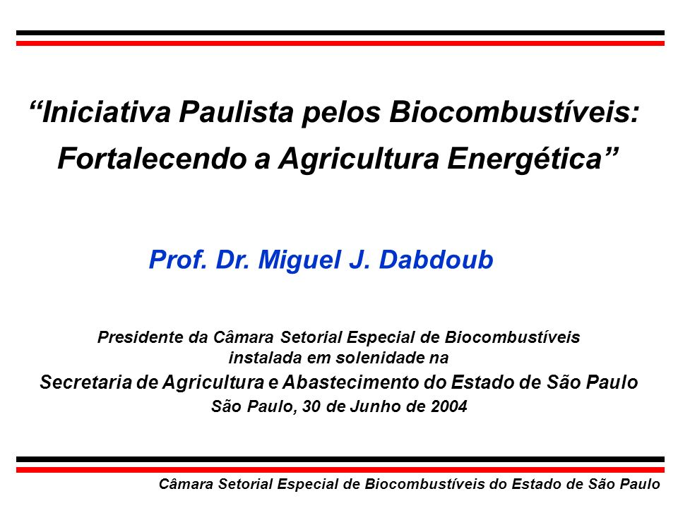 Iniciativa Paulista pelos Biocombustíveis: