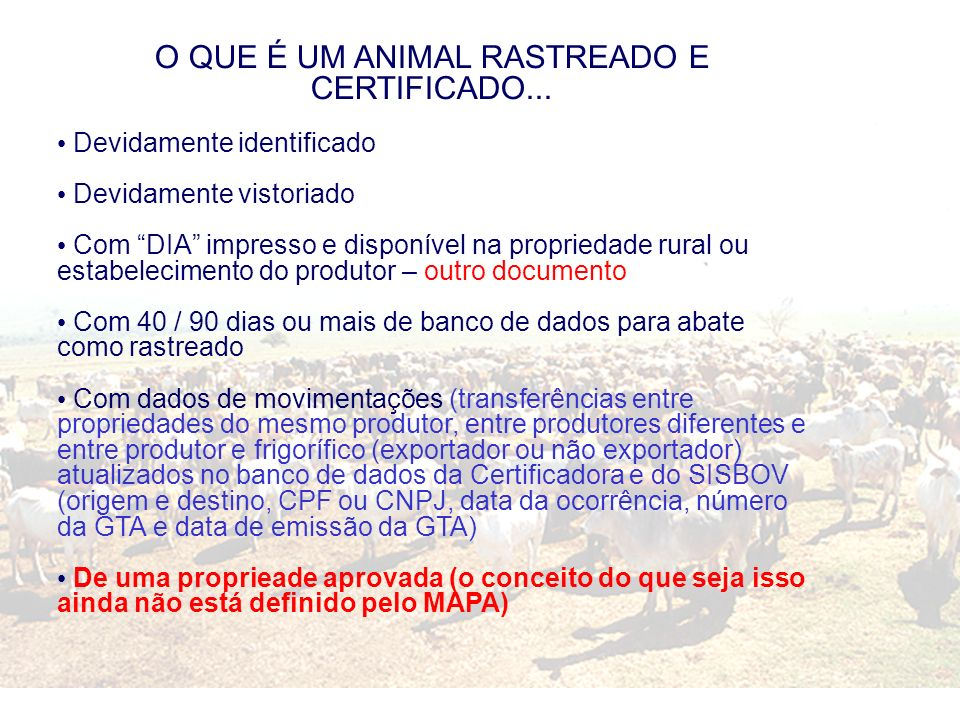 O QUE É UM ANIMAL RASTREADO E CERTIFICADO...