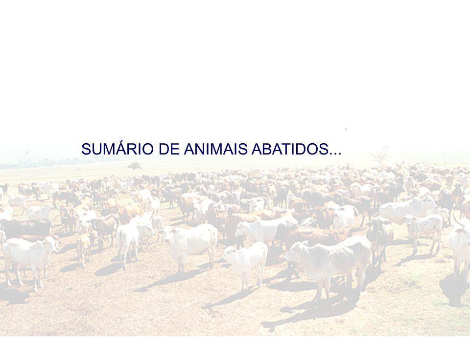SUMÁRIO DE ANIMAIS ABATIDOS...