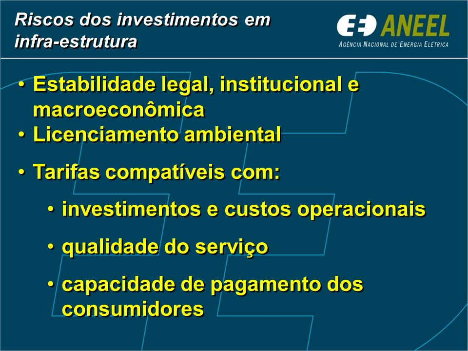Estabilidade legal, institucional e macroeconômica