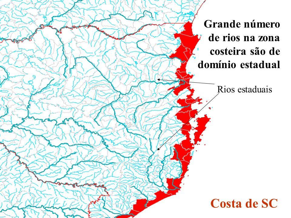 Grande número de rios na zona costeira são de domínio estadual