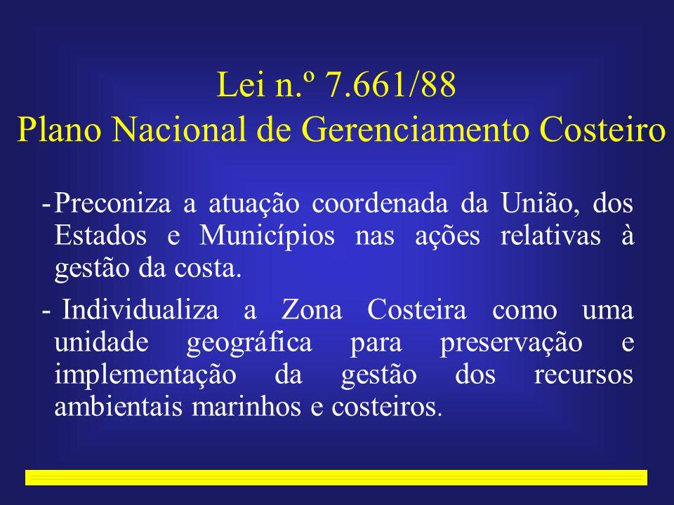 Lei n.º 7.661/88 Plano Nacional de Gerenciamento Costeiro