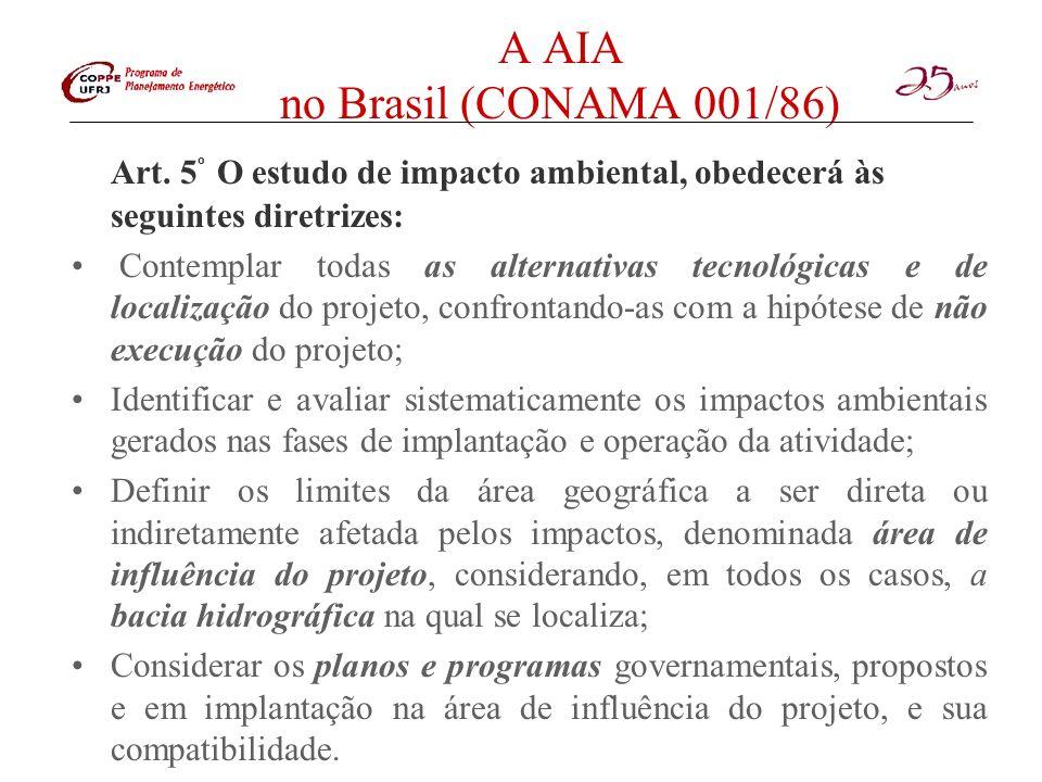 A AIA no Brasil (CONAMA 001/86)