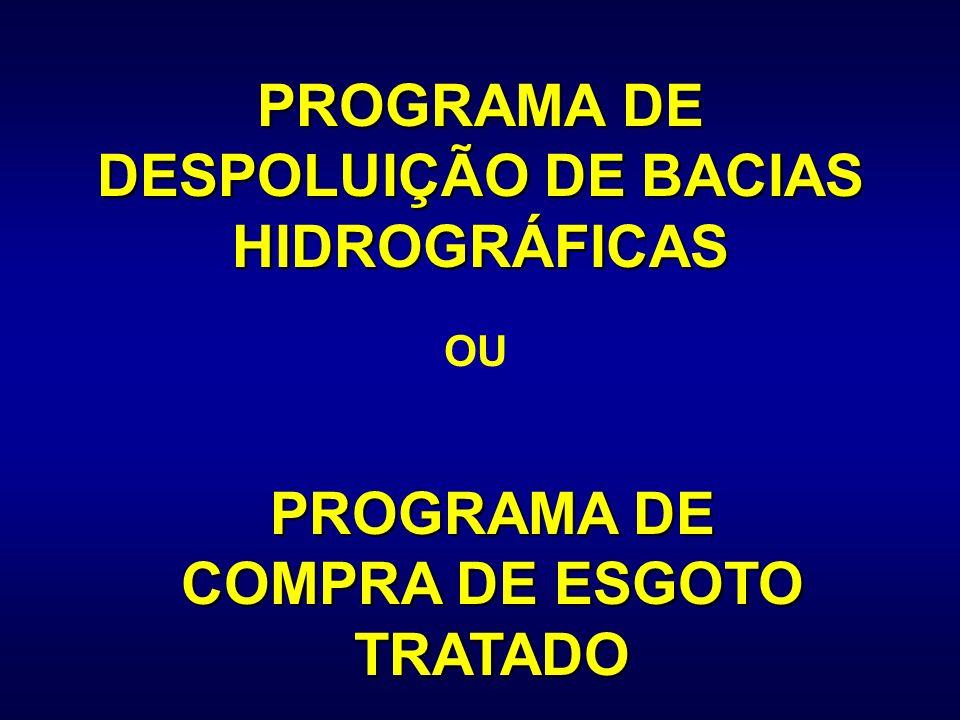 PROGRAMA DE DESPOLUIÇÃO DE BACIAS HIDROGRÁFICAS