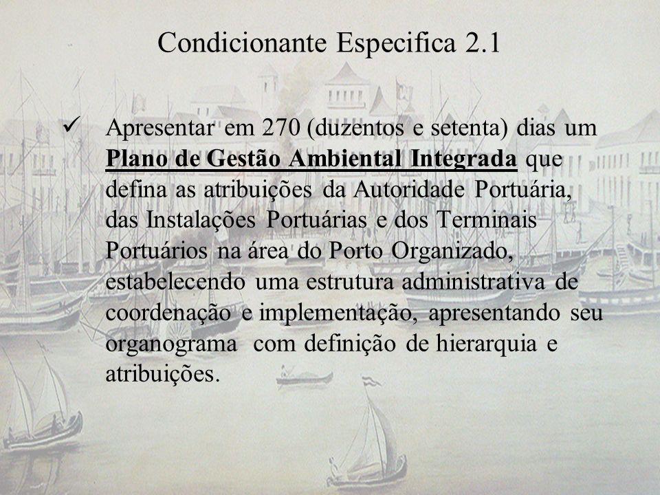 Condicionante Especifica 2.1