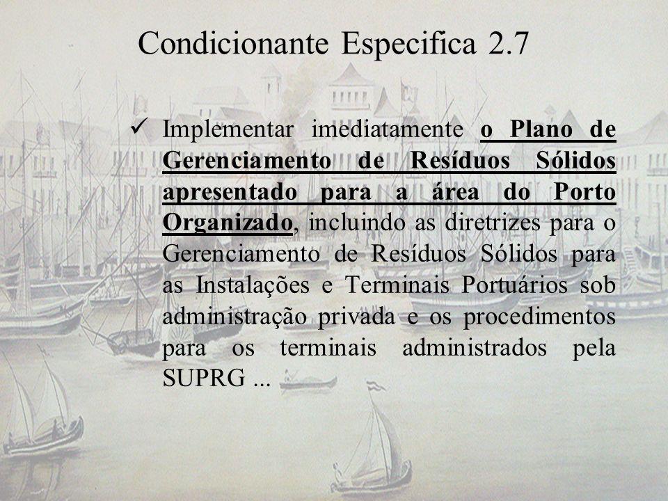 Condicionante Especifica 2.7