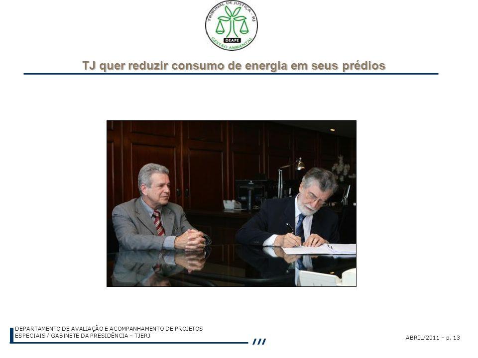 TJ quer reduzir consumo de energia em seus prédios