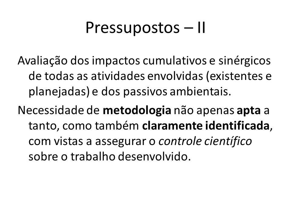 Pressupostos – II