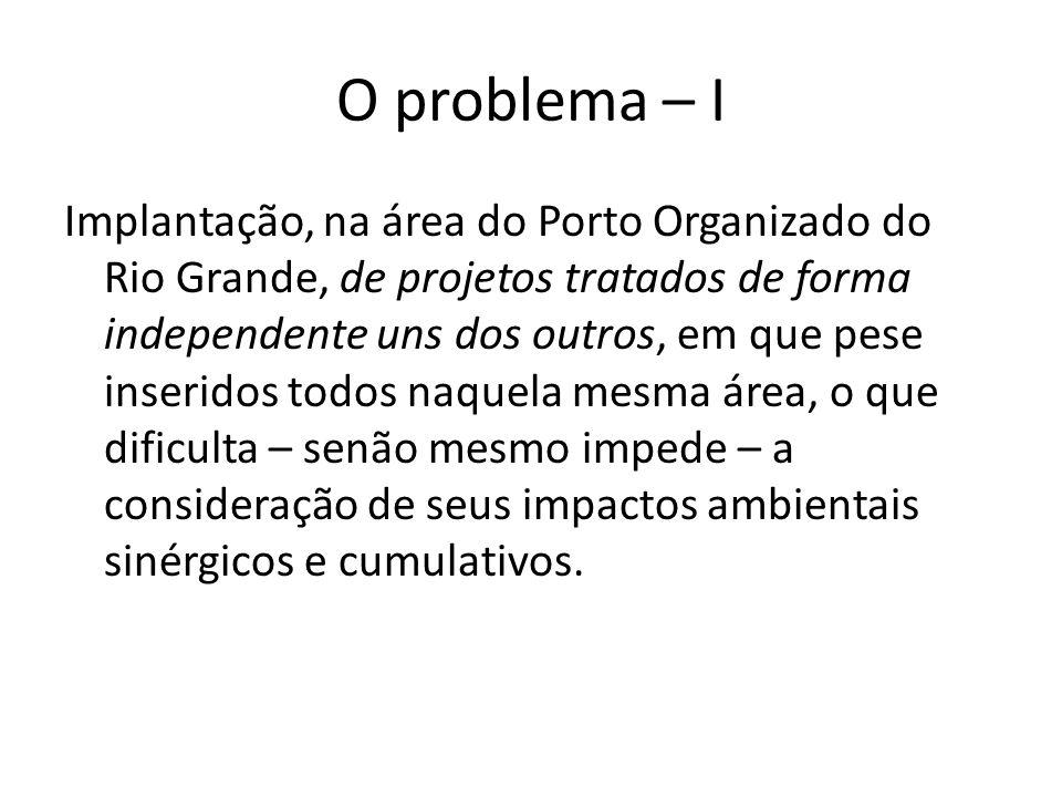 O problema – I