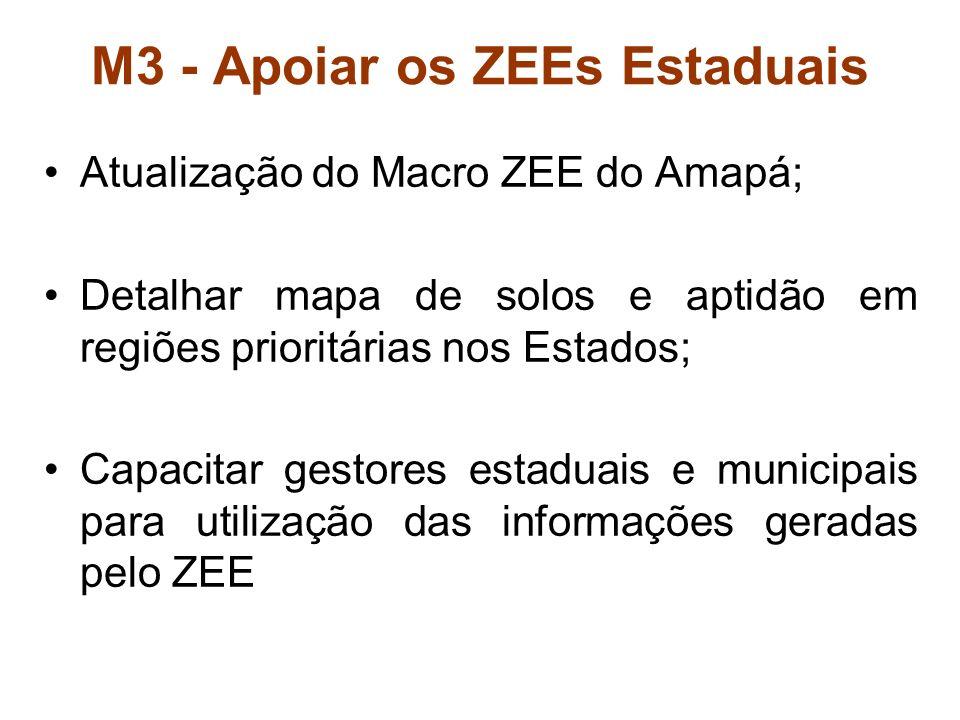 M3 - Apoiar os ZEEs Estaduais