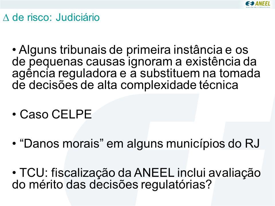 Danos morais em alguns municípios do RJ