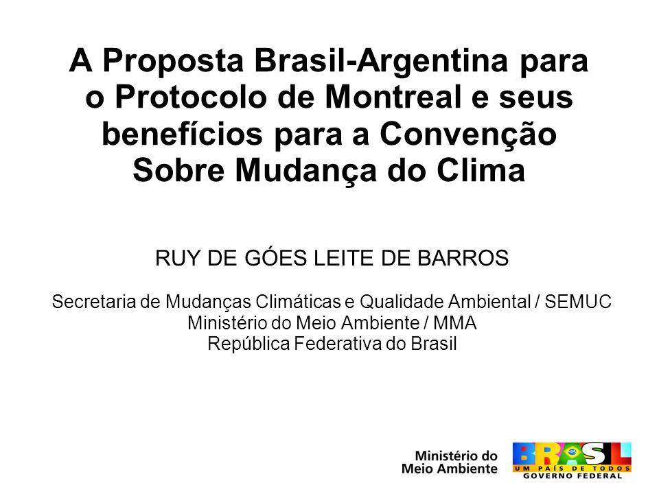 A Proposta Brasil-Argentina para o Protocolo de Montreal e seus benefícios para a Convenção Sobre Mudança do Clima