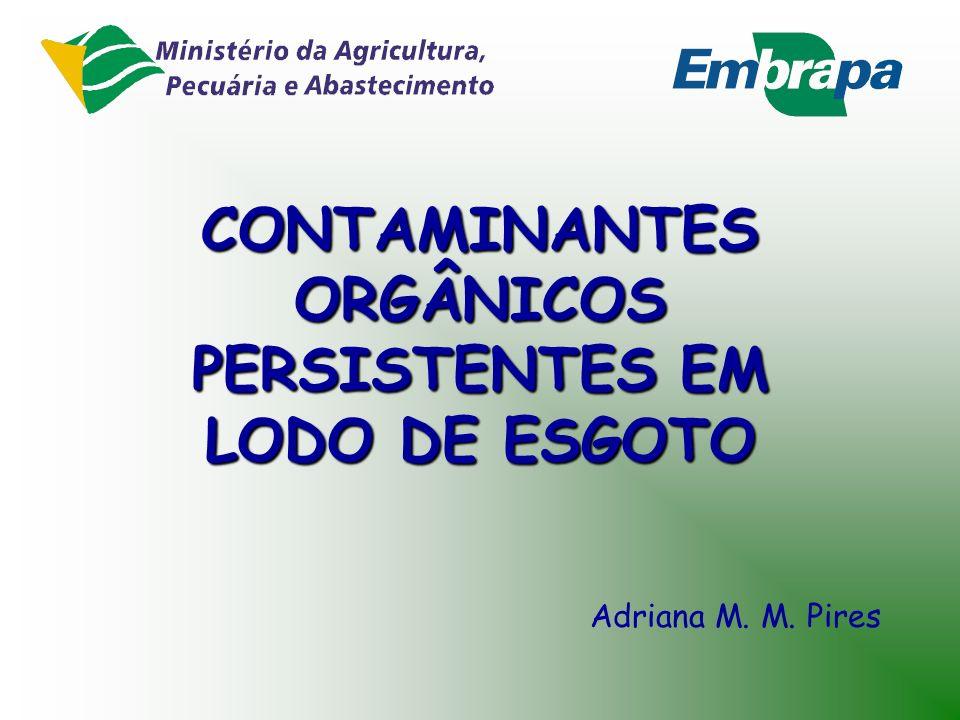 CONTAMINANTES ORGÂNICOS PERSISTENTES EM LODO DE ESGOTO