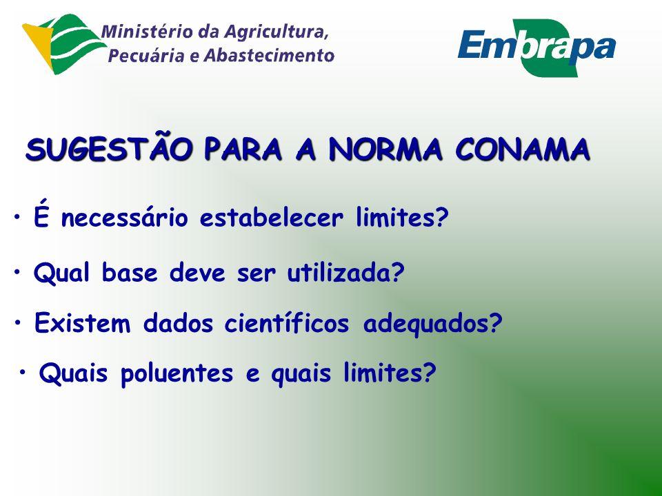 SUGESTÃO PARA A NORMA CONAMA